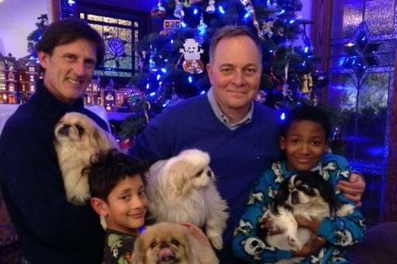 The Fisher-Paulsons (and canine friends).