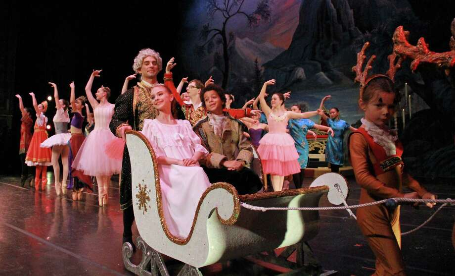"Young people make up part of the cast of ""The Nutcracker."" Photo: Mike Franzman / New Haven Ballet"