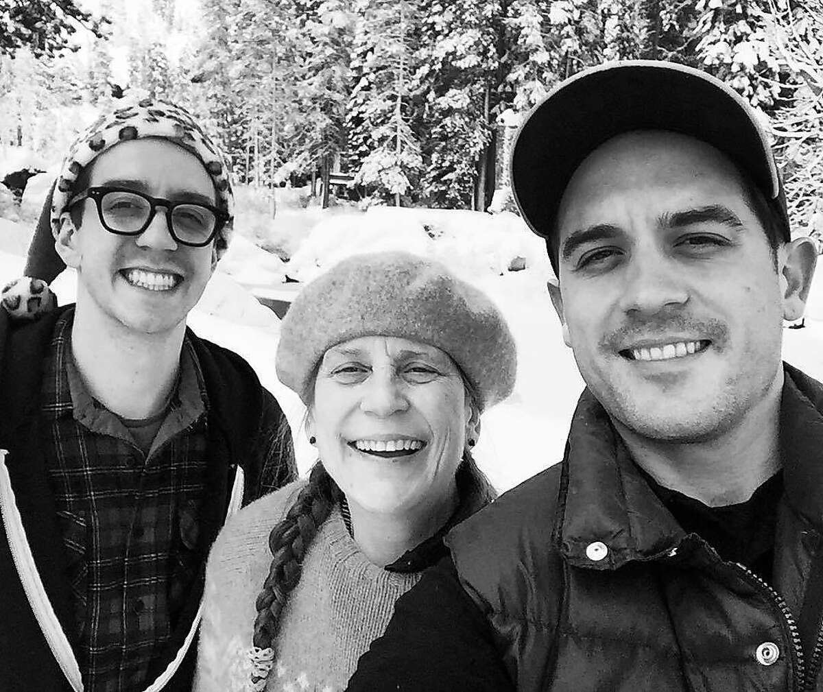 G-Eazy with brother James Gillum (left) and mom Suzanne Olmsted.