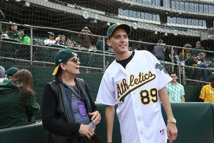 Suzanne Olmsted and her son G-Eazy