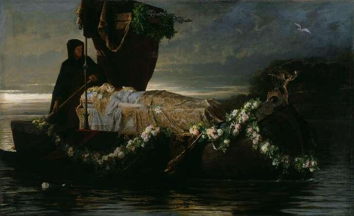 """Elaine,"" by Toby Edward Rosenthal, 1874"