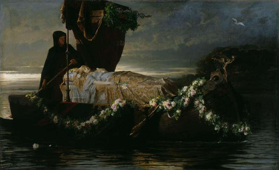 "Toby Rosenthal's ""Elaine,"" 1874. Photo: Courtesy Of Art Institute Of Chicago"