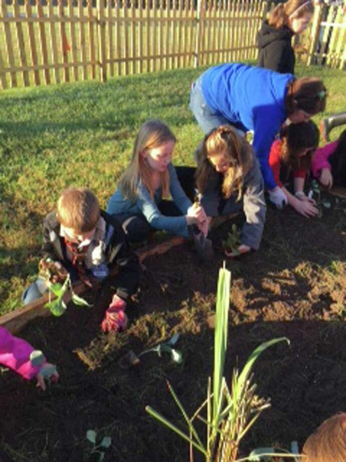 The Junior Master Gardener club at Ellisor Elementary in Magnolia ISD.