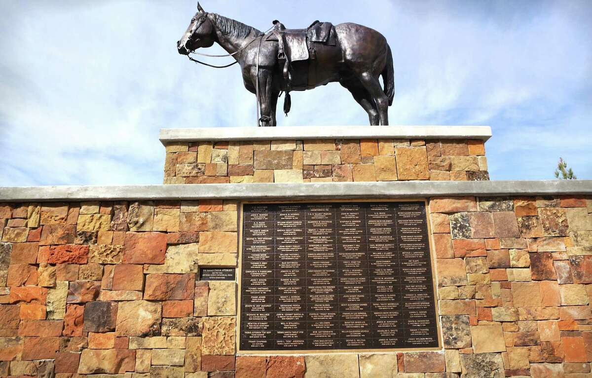A monument to fallen law enforcement officers, including Border Patrol agents, is at Sul Ross State University which is in the Big Bend Sector of Border Patrol where Rogelio Martinez worked and died while on patrol near Van Horn, Tuesday, Dec. 5, 2017.