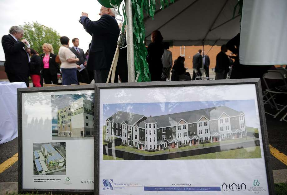 The groundbreaking ceremony for the new Westgate Apartments, a five-story, 48 unit building to be constructed at 515 West Avenue in Bridgeport, Conn. on Thursday, May 19, 2016. Photo: Brian A. Pounds / Hearst Connecticut Media / Connecticut Post