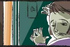 Greenwich Time domestic violence illustraton.