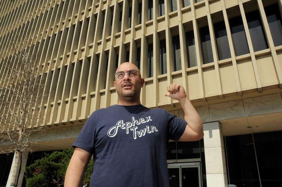 "Day for Night organizer Omar Afra talks about the 2017 show outside the old downtown post office. Afra has been removed from ""any ownership or involvement in Day For Night from this day forward,"" the festival posted on its Facebook page Sunday. Photo: Dave Rossman, Freelance / Dave Rossman"