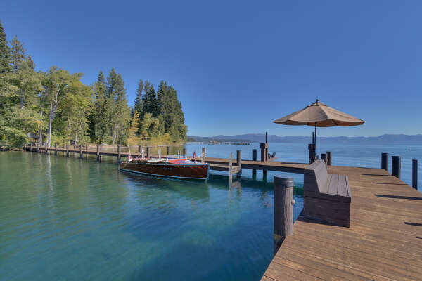 Brushwood Estate in North Lake Tahoe sits on six acres with 400 feet of lake frontage.