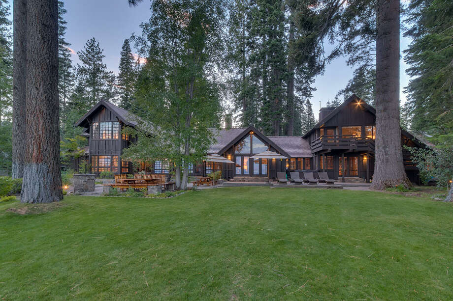 Brushwood Estate in North Lake Tahoe sits on 6.2 acres with 400 feet of lake frontage. Photo: Photo-tecture