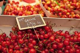 In late spring, look for luscious cherries in any French produce market.