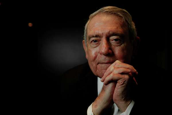 American journalist and the former news anchor for the CBS Evening News Dan Rather poses for a portrait in downtown San Francisco, California, on Thursday December 8, 2016.