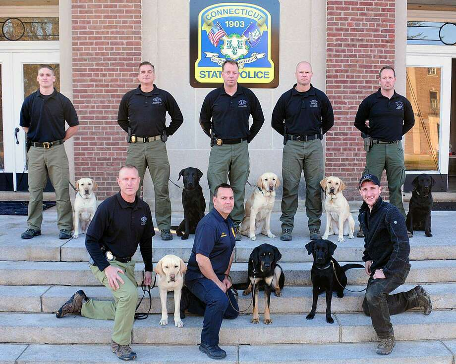 Eight Connecticut State Police K9 teams graduated on Dec. 8, 2017. Photo: Contributed Photo / Connecticut State Police / Contributed Photo / Connecticut Post Contributed