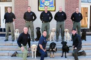 Eight Connecticut State Police K9 teams graduated on Dec. 8, 2017.