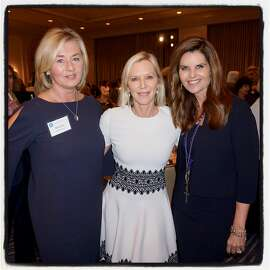 Marjorie Muldowney (left) with Lee Woodruff and Maria Shriver at the Ireland Funds' Women's Lunch. Nov. 28, 2017.