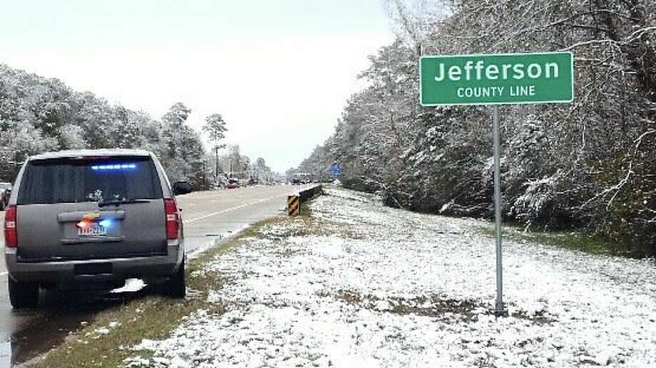 Jefferson County Sheriff's OfficeSETX Snow Day, Oct. 8, 2017 Photo: Facebook