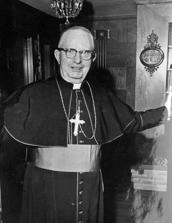 San Antonio Archbishop Robert Lucey shown in a March 1969 photo.