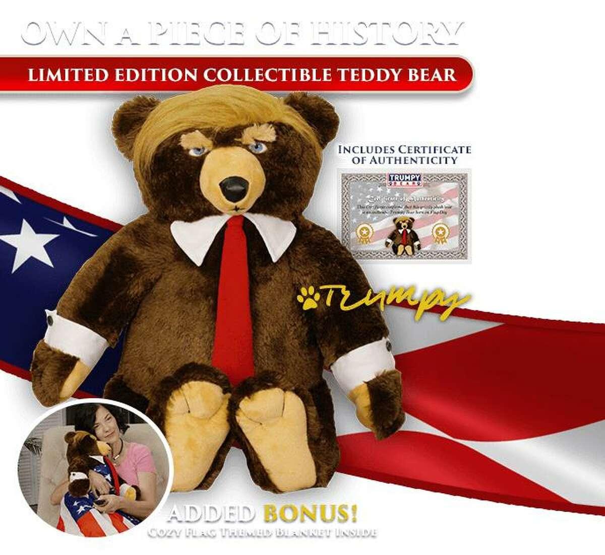 An ad for Trumpy Bear.