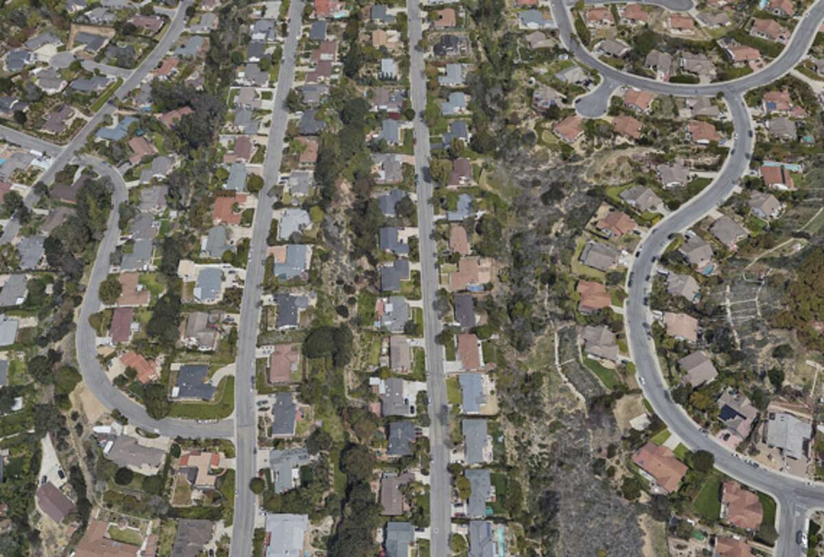 Click ahead to see before and after shots of the Southern California wildfires. A Ventura, Calif. neighborhood in Oct. 2016.