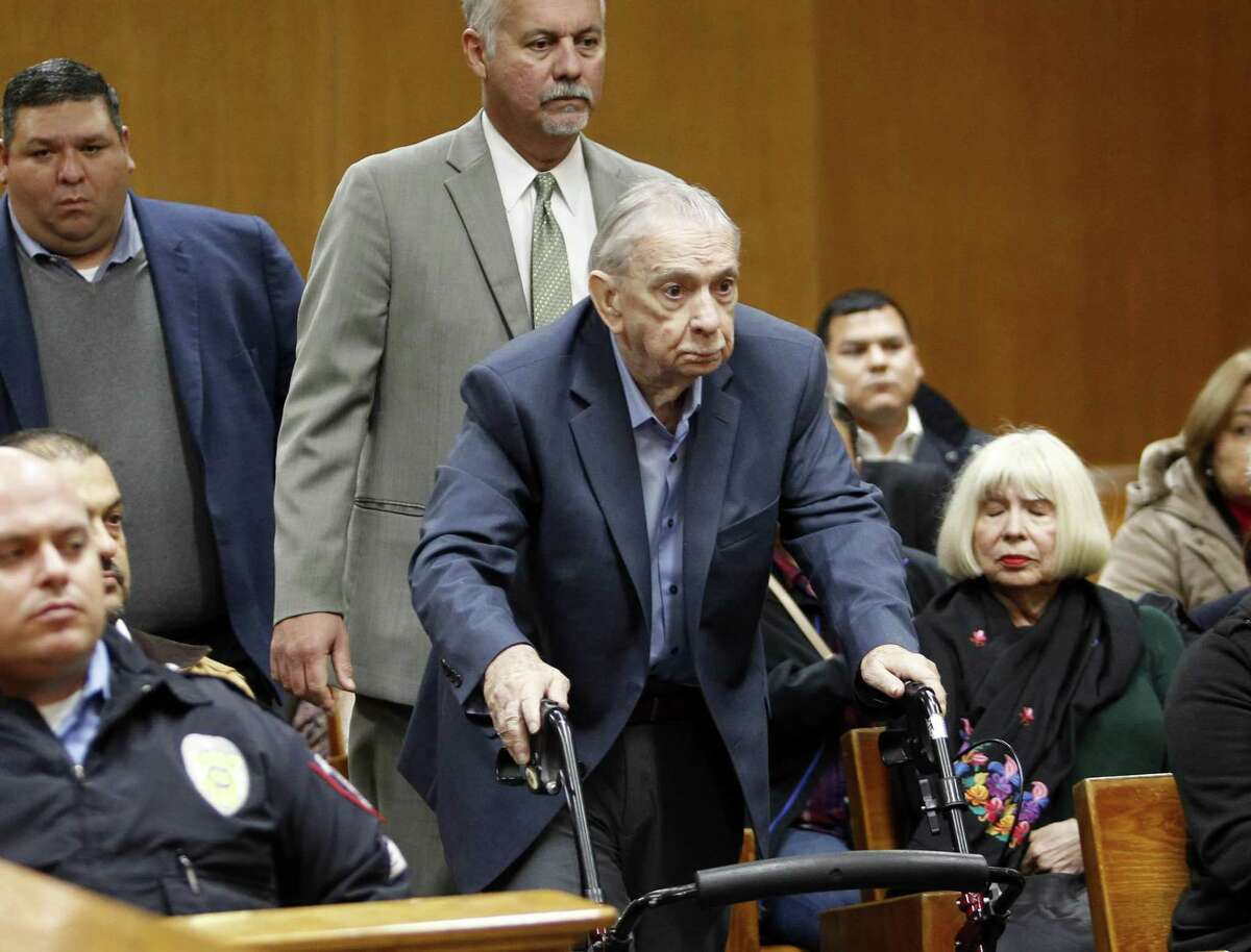 John Bernard Feit enters the 92nd state District Court before the verdict was read in his trial for the 1960 murder of Irene Garza Thursday, December 7, 2017, at the Hidalgo County Courthouse in Edinburg. Feit was found guilty of Garza's murder. (Nathan Lambrecht/The Monitor/Pool)