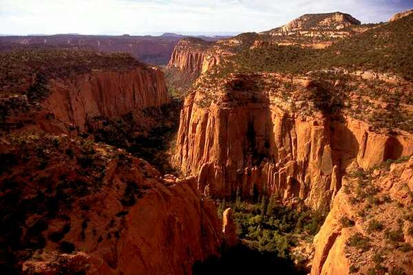 FIL E- In this undated file photo, the Upper Gulch section of the Escalante Canyons within Utah's Grand Staircase-Escalante National Monument is shown. Outdoor clothing giant Patagonia and other retailers have jumped into a legal and political battle over President Donald Trump's plan to shrink two sprawling Utah national monuments, a fight that would scare off most companies but buoys customers of outdoor brands that value environmental activism. (AP Photo/Douglas C. Pizac, File)