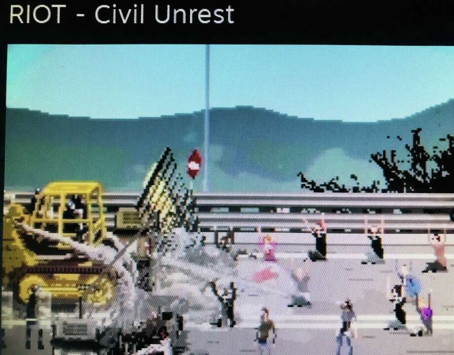 "An image from ""Riot: Civil Unrest."""