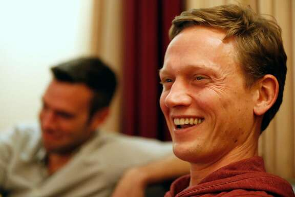 Pod Save America's Tommy Vietor before show at Fox Theater Oakland, Calif., on Monday, December 4, 2017.