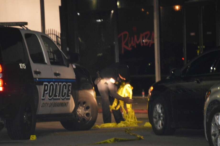 Police are investigating a homicide after one man was killed in a gun fight that left five people shot outside Beaumont's Rumba club. Photo: Eric Williams
