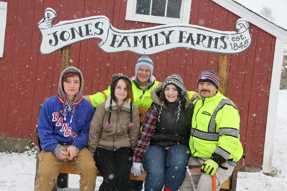 Families shopped around and cut down their own Christmas Trees at Jones Family Farms in Shelton on December 9, 2017. Were you SEEN?