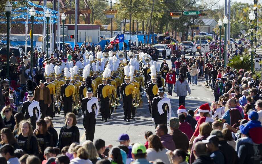 The Conroe High School band makes its way down Collins Street during the annual Conroe Christmas Celebration parade, Saturday, Dec. 9, 2017, in Conroe. Photo: Jason Fochtman/Houston Chronicle