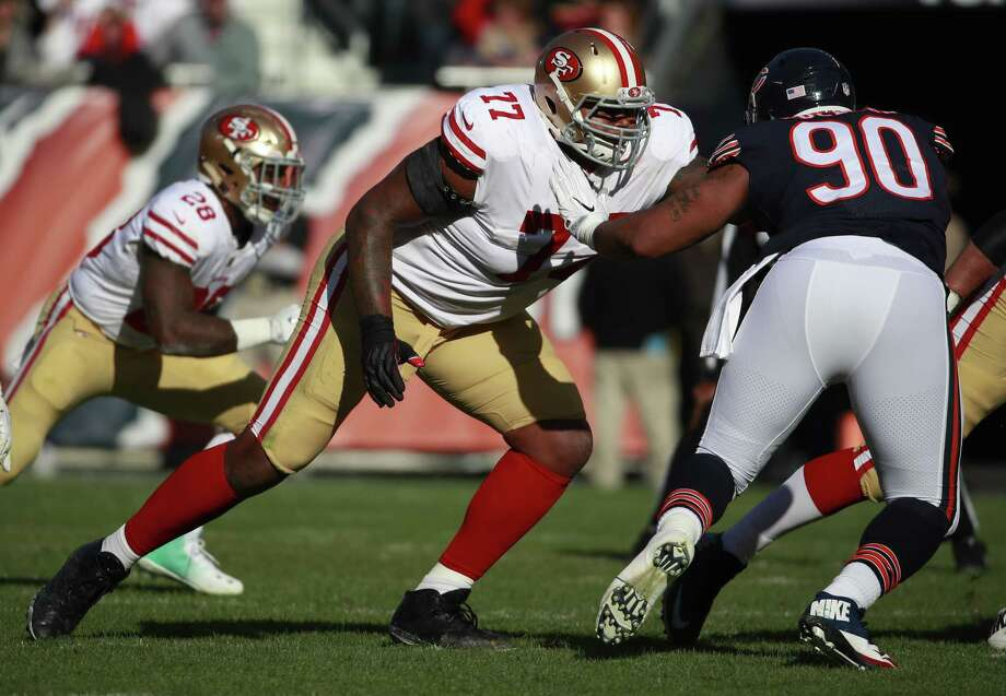 the latest da946 1c8e7 Source: 49ers trade tackle Trent Brown to Patriots for pick ...