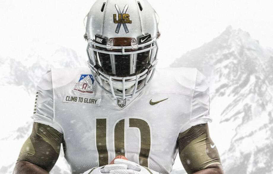 Source: Army AthleticsBrowse through the photos to see both the Army and Navy uniforms from Saturday's game.  Photo: Army Athletics