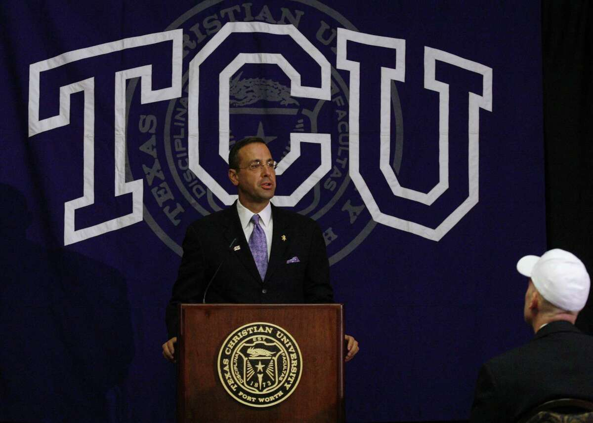 Chris Del Conte, who served as TCU's athletic director since 2009, was named the University of Texas athletic director Saturday.