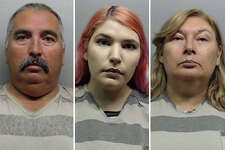 A father, mother and daughter lied about having their vehicle stolen because they could no longer afford the payments, according to Laredo police.