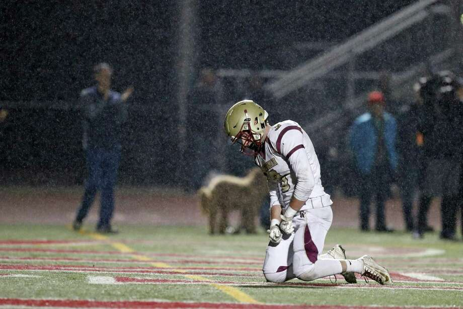Mark Boschetti reacts late in Cardinal Newman-Santa Rosa's 59-56 loss to Marin Catholic-Kentfield in the North Coast Section Division 3 title game. Photo: Scott Strazzante / Photos By Scott Strazzante / The Chronicle / San Francisco Chronicle