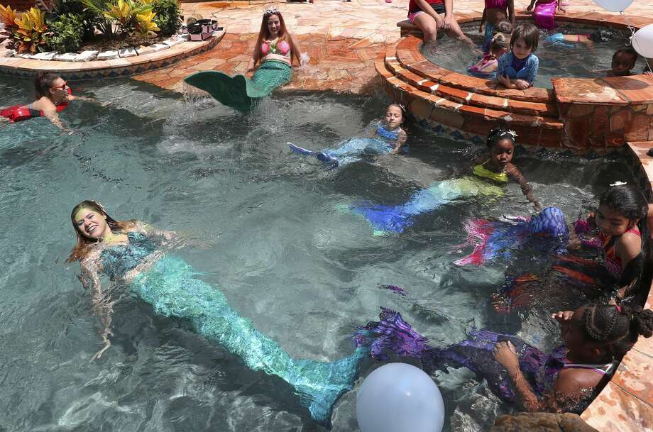 The mermaiding industry made its way into at least three Chronicle stories this year. Photo: Yi-Chin Lee/Houston Chronicle