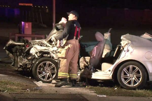 One person is dead after an overnight wreck at Houston and Washington.