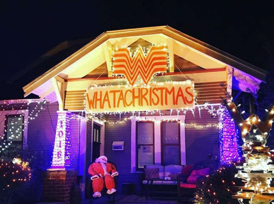 The Whataburger themed display at Lights in the Heights. Photo by Katherine Blunt>>More from this year's celebration