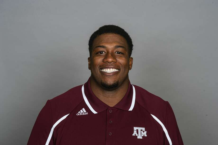 Texas A&M senior starting defensive tackle Zaycoven Henderson was suspended indefinitely after being charged with aggravated assault with a deadly weapon, tampering with evidence and possession of marijuana. Photo: Glen Johnson / TAMU Athletics