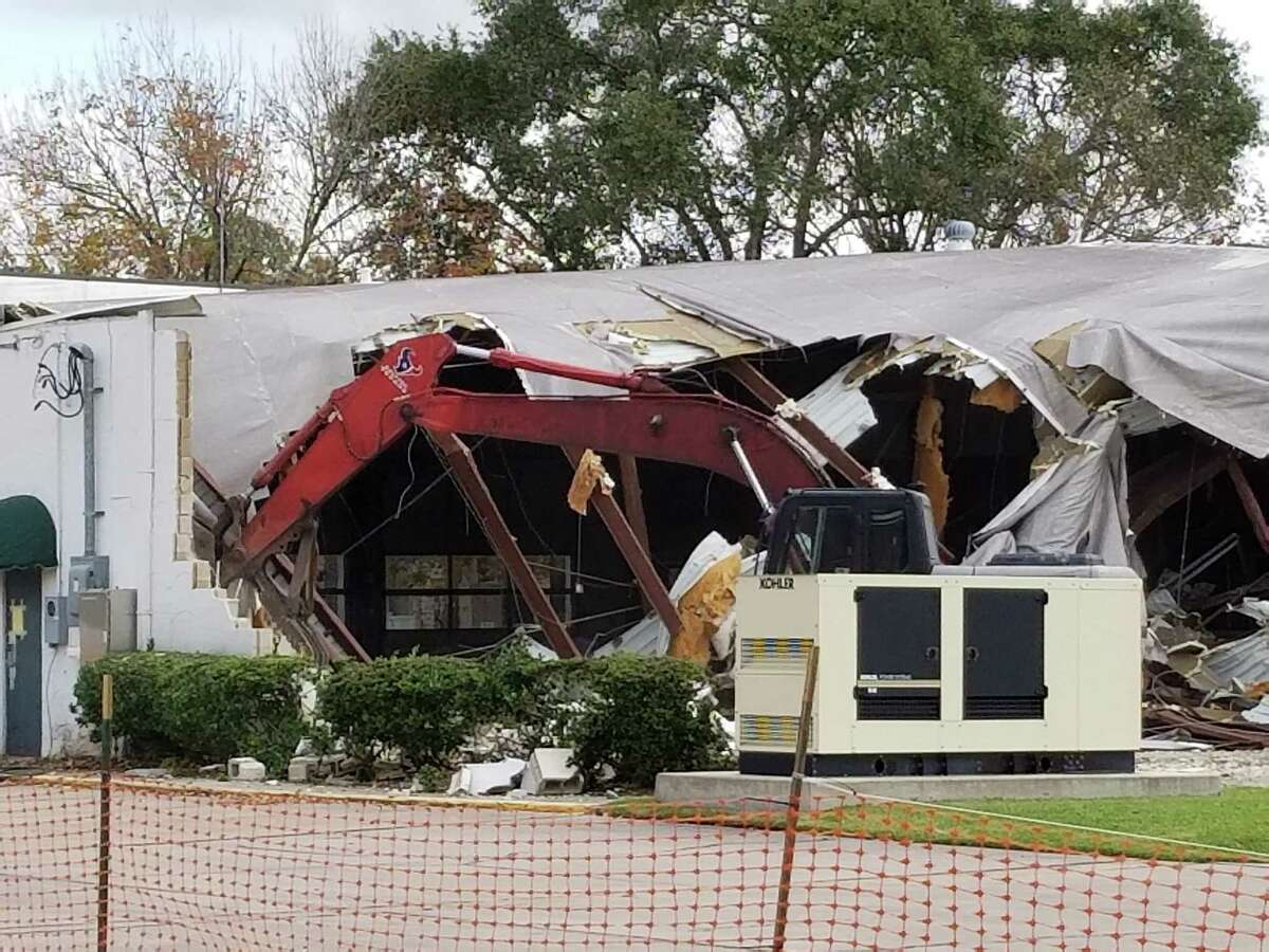 The building that had housed Friendswood Volunteer Fire Department's Station 1 near City Hall was torn down Nov;. 16. The new station is on Whitaker Drive.