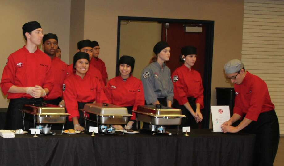 The Cleveland High School Culinary Department provided lunch for the Dec. 7 Greater Cleveland Chamber of Commerce luncheon. Photo: Jacob McAdams