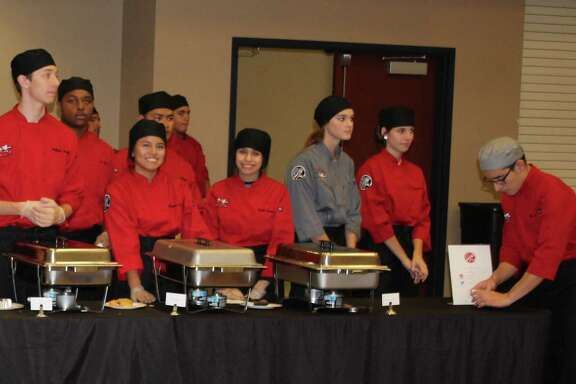 The Cleveland High School Culinary Department provided lunch for the Dec. 7 Greater Cleveland Chamber of Commerce luncheon.