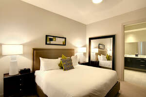 A suite on the  12th floor of the Hotel Sorella CityCenre  spans more than 3,000 square feet - which is the largest in the Houston area. The starting price for this is $2,200 per night.