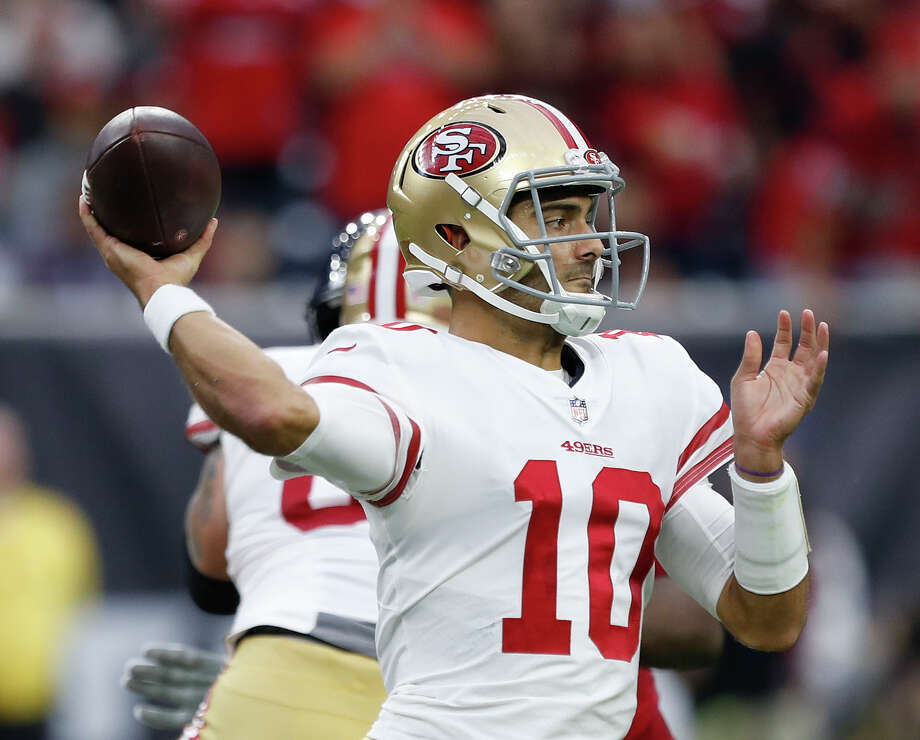 Jimmy Garoppolo's play at the end of last season has generated optimism about the 49ers' ability to take the next step. Photo: Karen Warren, Houston Chronicle / © 2017 Houston Chronicle