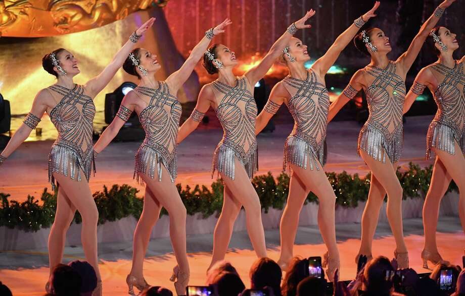 The Rockettes perform during the 85th Rockefeller Center Christmas Tree Lighting Ceremony at Rockefeller Center on November 29, 2017 in New York City. Click through the slideshow to learn backstage secrets about the dance troupe. Photo: ANGELA WEISS / AFP or licensors