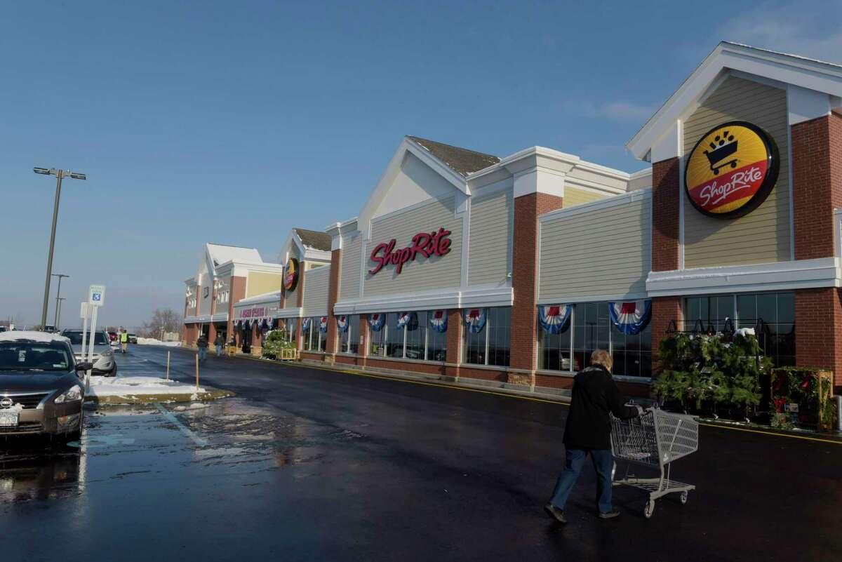 Shoppers make their way in at the grand opening for the new ShopRite on Sunday, Dec. 10, 2017, in North Greenbush, N.Y. (Paul Buckowski / Times Union)
