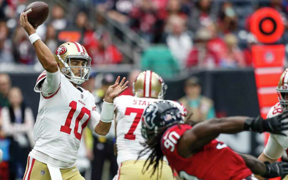 Jimmy Garoppolo's arrival transformed the 49ers offense. Can they build upon that next season? Photo: Brett Coomer, Houston Chronicle / © 2017 Houston Chronicle