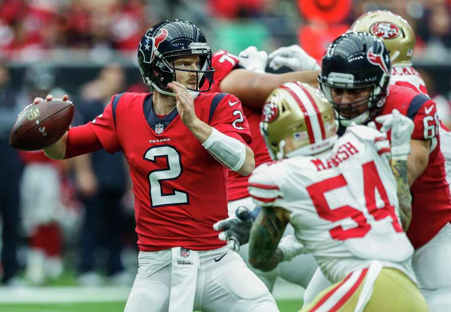 Texans QB Savage (concussion) exits vs. 49ers