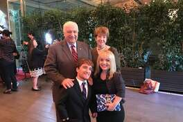 Celebrity Nic Novicki, front left and his wife, Teale, attend the Media Access Awards in Beverly Hills with Nic's parents, David and Lynn Novicki of Orange. Nic Novicki received a major award at the event for his Easterseals Disability Film Challenge. Provided art
