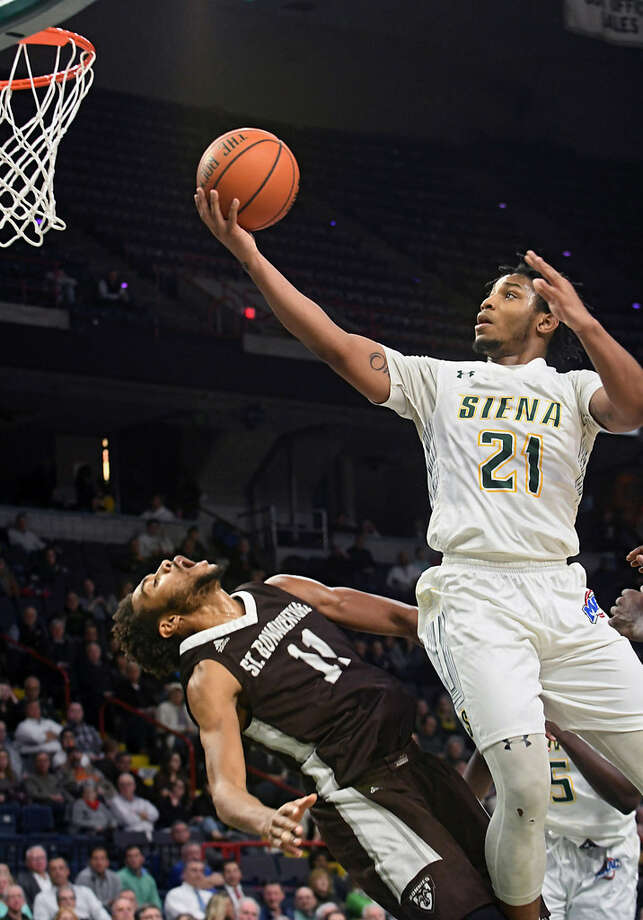 Siena sophomore guard Ahsante Shivers said it's important for the Saints to put the UAlbany loss behind them quickly. (Lori Van Buren/Times Union).