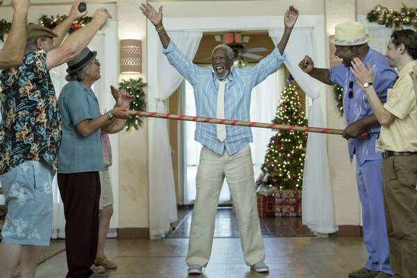 """Morgan Freeman, center, in a scene from """"Just Getting Started."""""""